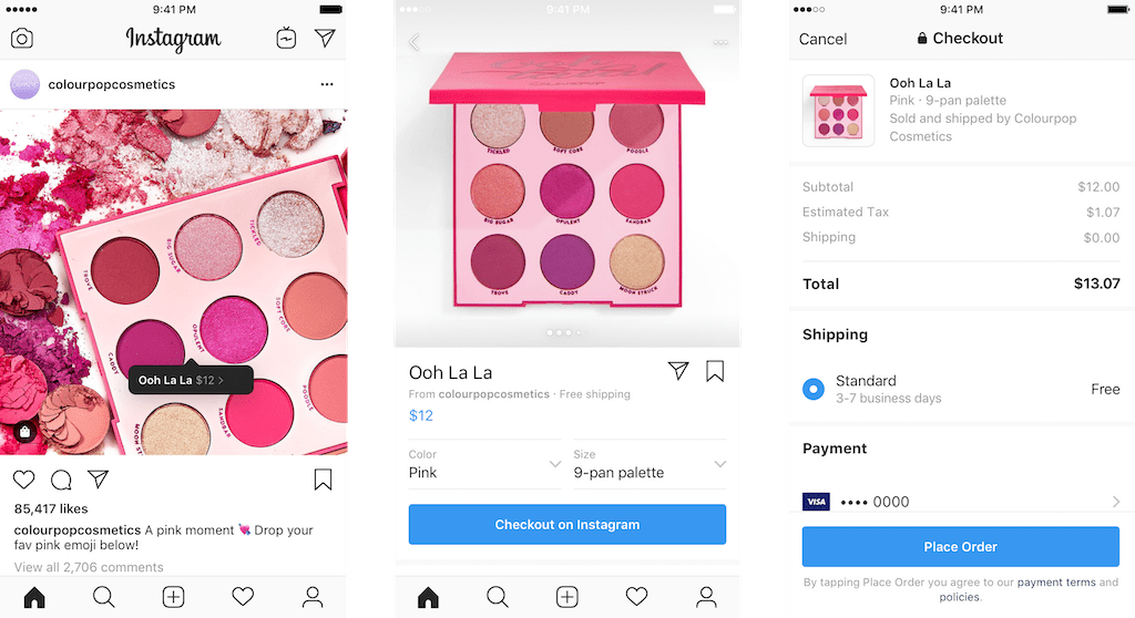 In App Checkout Debuts on Instagram